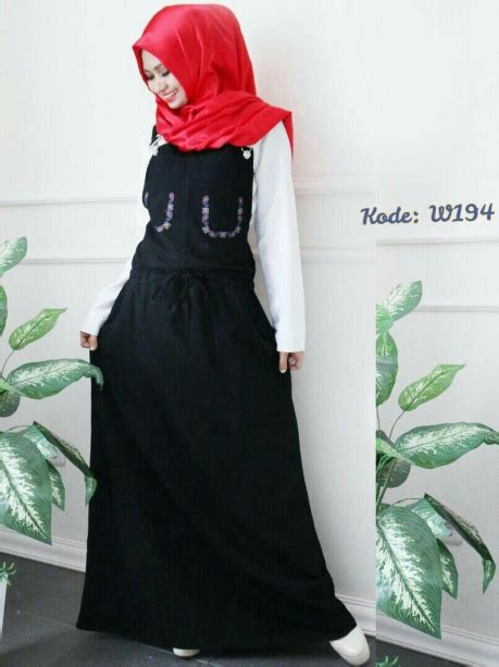 rok linen klok jumpsuit rok serut w194 baju style ootd