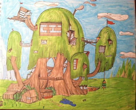 adventure house adventure time tree house re imagined by cartinman on deviantart