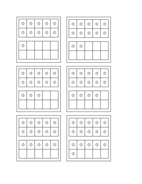 Ten Frame Worksheet by Ten Frame Worksheets Math