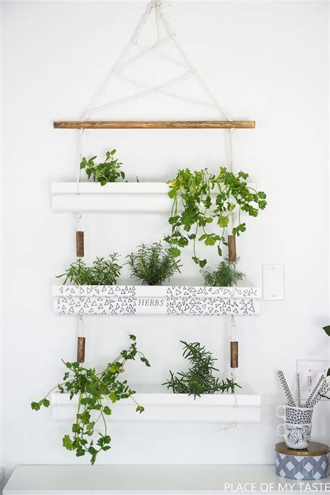 Hanging Herb Planter | diy gutter hanging planter gardens planters and hanging