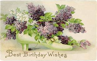 free vintage birthday card lilacs the graphics
