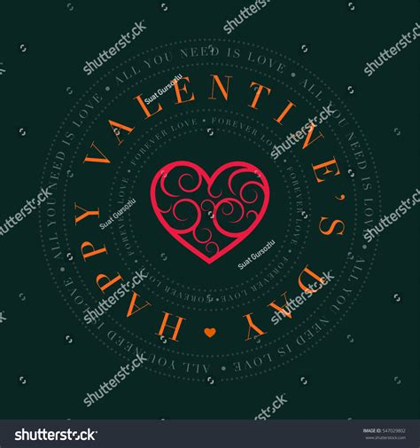 s day card design template vector valentines day greeting card design stock vector