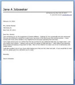 13 babysitter cover letter job and resume template
