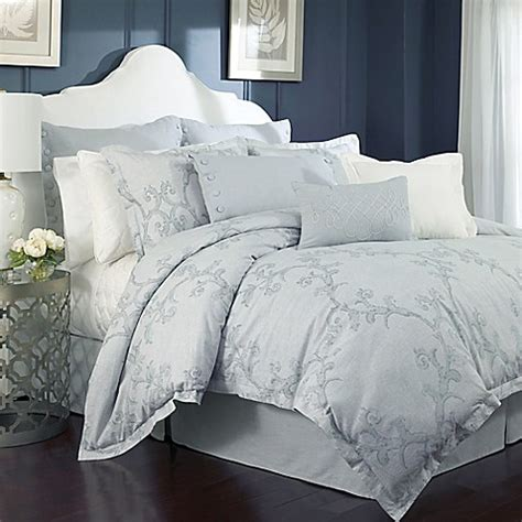 charisma bedding charisma adina duvet cover set in mist bed bath beyond