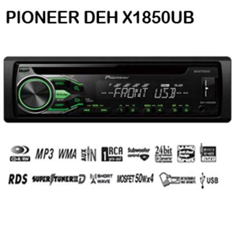 Unit Pioneer Deh X1850 Ub Garansi Resmi pioneer dex x1850ub
