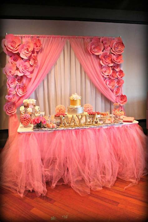 pink theme decorations it s a pink and silver baby shower ideas
