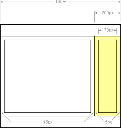 layout get height the right menu 2 column liquid layout pixel widths cross