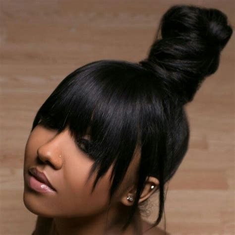 weave ponytail with bang hairstyles best 25 weave ponytail hairstyles ideas on pinterest