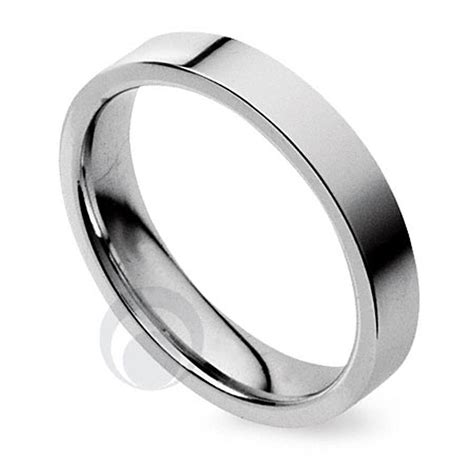 plain flat court platinum wedding ring from the platinum