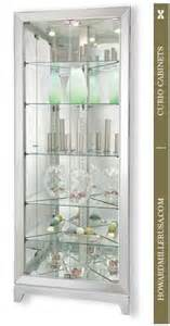 Corner Glass Display Cabinet Silver Effect 680601 Howard Miller Silver Finish Mirrored Corner Curio