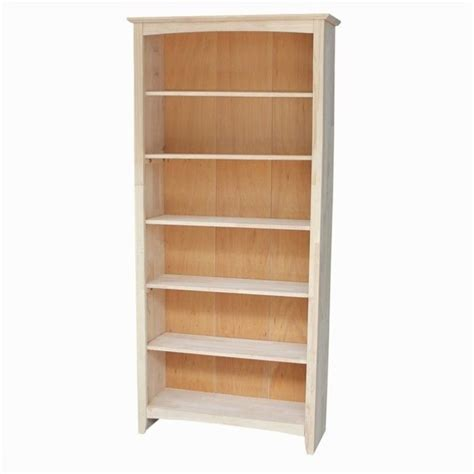 unfinished 72 quot shaker bookcase sh 3227a