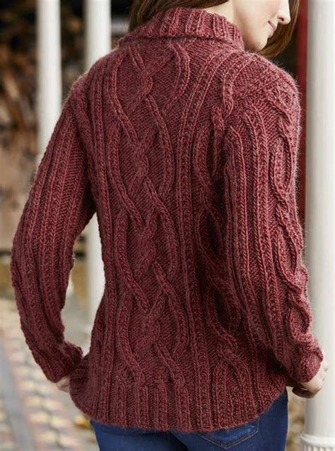 knitting jumper cable knit jumper pattern