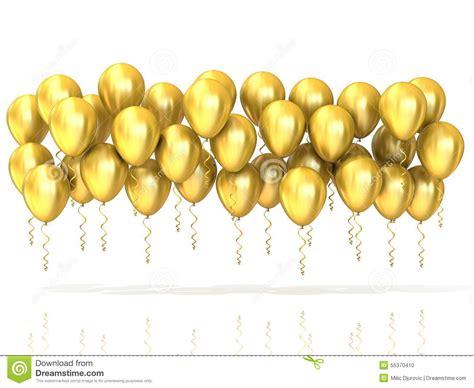 Balon Metalik I You Cinta golden balloons row stock illustration image 55370410