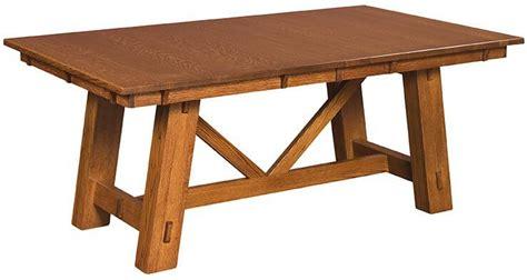 san rafael dining table san rafael trestle dining table countryside amish furniture