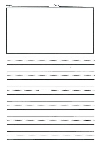 student writing paper template free 2nd grade writing template this is front back and