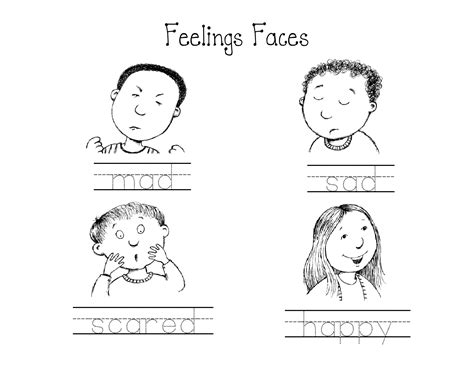 worksheets for preschoolers on emotions kindergarten feelings faces worksheet circle the mad
