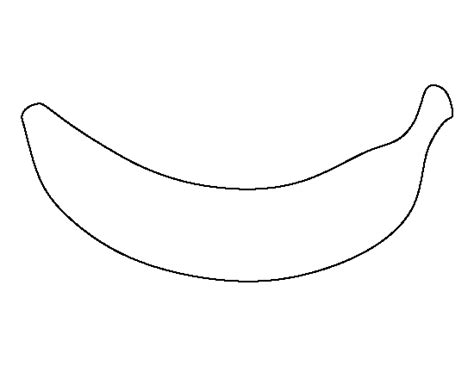 printable banana shapes banana pattern use the printable outline for crafts