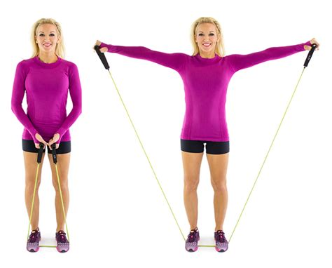 lateral resistor band exercises lateral raise with resistance band