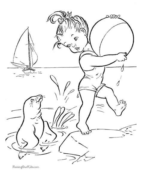 beach coloring worksheets for preschoolers coloring pages