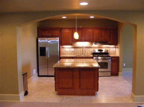 basement kitchen cabinets impressive basement kitchens ideas showing wooden kitchen cabinet complete white marble