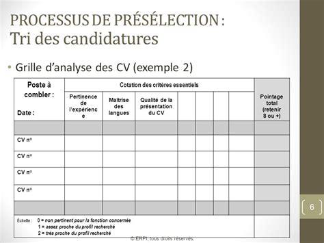 Grille Evaluation Cv by S 233 Ance 7 La Dotation S 233 Lection Accueil Et Int 233 Gration