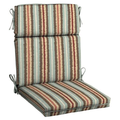 hton bay elaine ikat stripe welted outdoor dining chair
