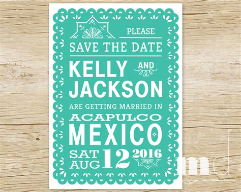 save the date banner template papel picado save the date invitation tropical destination