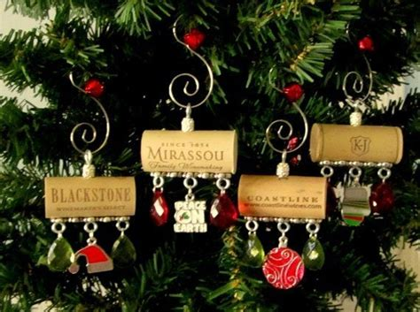 christmas crafts made with wine corks special day