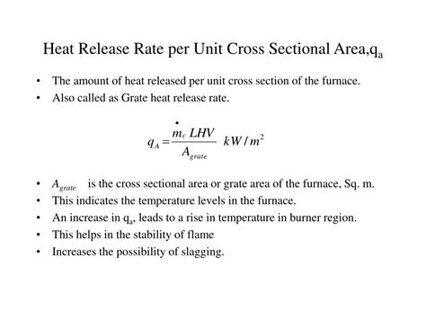 cross sectional area units ppt a cause effect analysis of furnace heat transfer