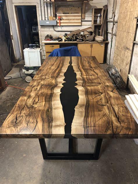 english walnut epoxy dining table wood resin table