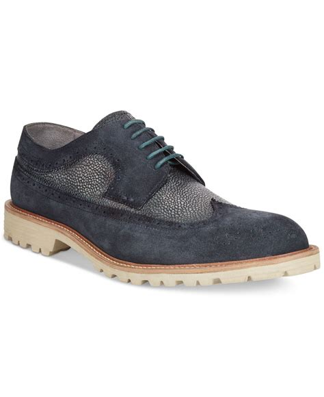 kenneth cole oxford shoes kenneth cole n steady oxford shoes in blue for