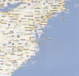 us map beaches picture foto car templates fotos map of east coast