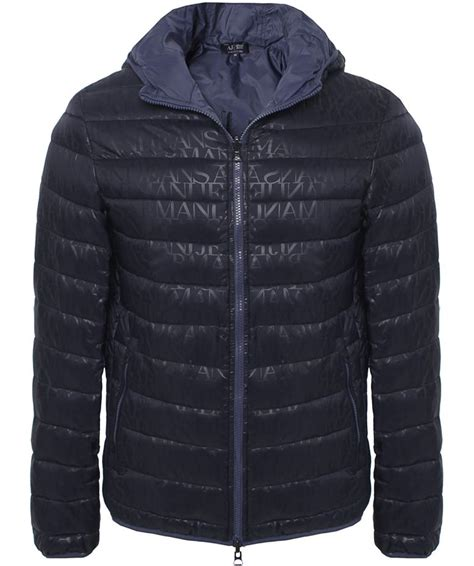 Armani Quilted Jacket by Armani Reversible Quilted Logo Hooded Blouson Jacket