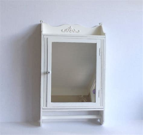 Shabby Chic Bathroom Cabinet With Mirror Wall Medicine Cabinet Mirror With Towel Bar Bathroom