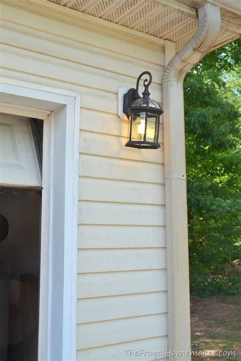 Mounting Outdoor Lights To Siding Outdoor Light Fixture Change Up