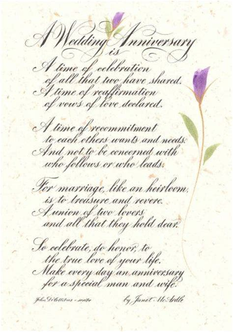 Wedding Wishes Poem by To Put At The Back Of Program Biblical Wedding