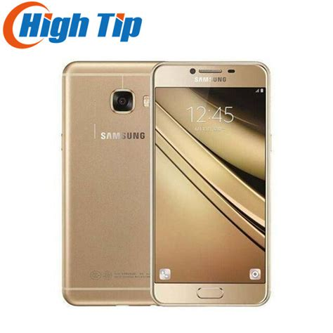 Android Samsung Ram 1 Giga original samsung galaxy c7 mobile phone 4g lte android 4gb ram 32 64gb rom 16mp 5 7 inch