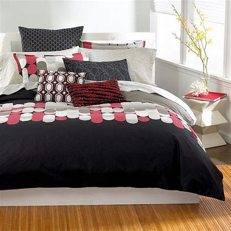 red queen comforter bar iii pinball full queen comforter black red taupe