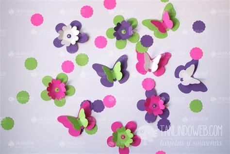 mariposas de fieltro y papel flores mariposas
