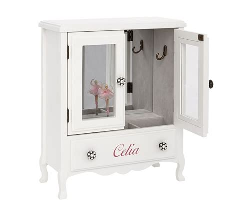 kids jewelry armoire white mill valley armoire jewelry box pottery barn kids