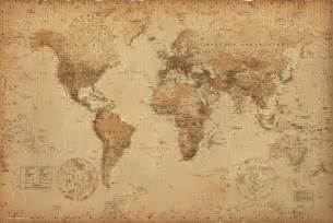 Vintage World Maps by World Map Vintage