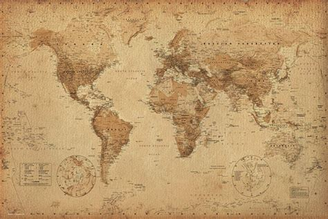 map world poster vintage world map poster