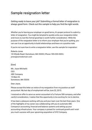 Resignation Letter Accountant by Resignation Letter Sle For Accounting Staff Cover Letter Templates