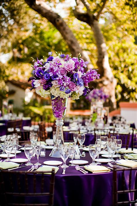 purple flower arrangements centerpieces purple wedding flower arrangements centerpieces