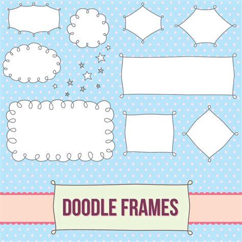 free doodle border vector label frames no 20
