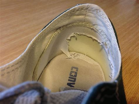how to fix running shoes how to fix the worn out heel linings in your ragged shoes