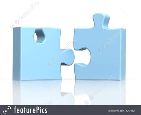 A In Two Parts abstract forms two parts of a puzzle stock image