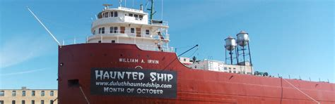 boat tours duluth mn william a irvin haunted ship tours duluth mn 55802