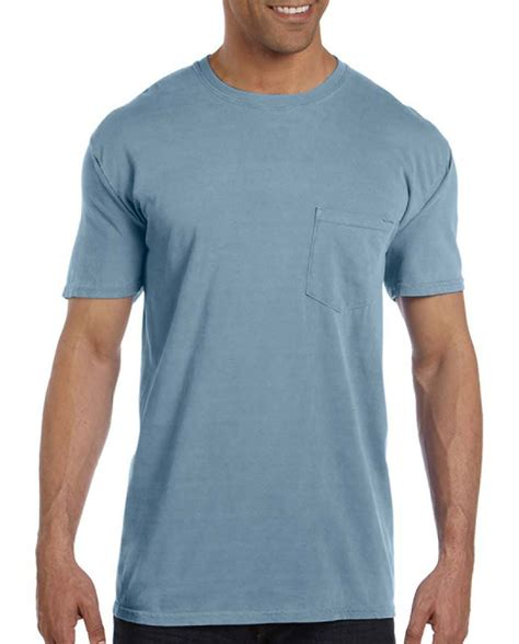 comfort colors pocket t shirt custom garment dyed mens pocket t shirt from comfort colors