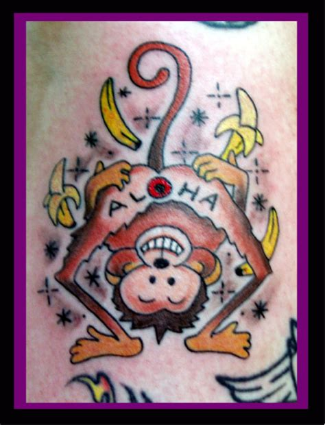 aloha monkey tattoo aloha monkey by jocephus666 on deviantart
